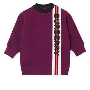 Girl's Letisha Striped Logo Sweatshirt Burgundy